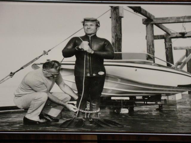 Jack LaLanne prepares for one of his famous stunts
