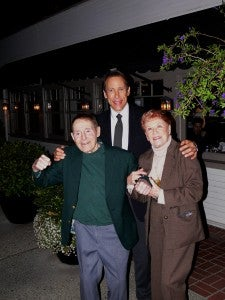 Lee Swanson with Jack and Elaine LaLanne